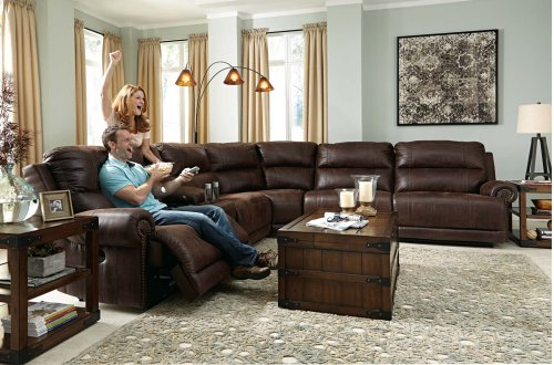 Luttrell - Espresso 7 Piece Sectional