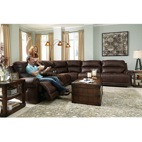 Luttrell - Espresso 6 Piece Sectional