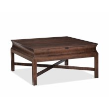 Square 1 Drawer Cocktail Table