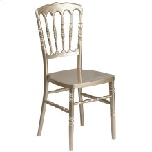 Gold Resin Stacking Napoleon Chair