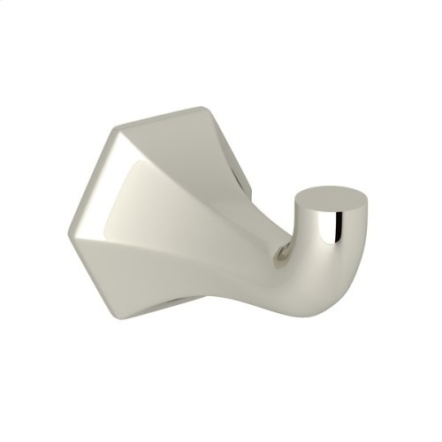 Polished Nickel Bellia Wall Mount Single Robe/Towel Hook