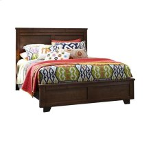 5/0 Queen Complete Bed - Espresso Pine Finish
