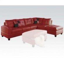 Kiva Red Sectional Sofa
