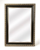 Antiqued and classic, brings elegance where ever its hung. Place this mirror over a console table in your entryway or hall to enlighten or expand the space. Hang over the mantle to bring bright sohpistication to your living area. This traditional design Product Image