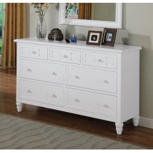 Dresser with glass top B/