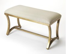 Use the bench to add an elegant touch to the entryway or to seat guests at your next neighborhood soiree. Elegant and eye-catching, this ppholstered bedroom bench is the perfect addition to any space. Neutral Linen fabric covers the comfortable seating a