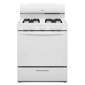 30-inch Gas Range with EasyAccess Broiler Door White - WHITE