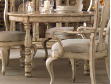 """Dining Room Wakefield Round Leg Dining Table w/1-21"""" leaf"""