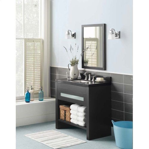 "Kendra 36"" Bathroom Vanity Base Cabinet in Black"