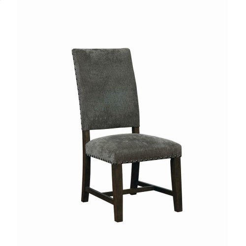 Contemporary Grey Upholstered Parson Chair