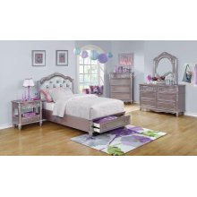Caroline Metallic Lilac Twin Five-piece Set