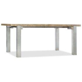 Dining Room Urban Elevation 72in Metal Leg Table w/2-22in leaves