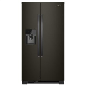 36-inch Wide Side-by-Side Refrigerator - 25 cu. ft. - BLACK STAINLESS