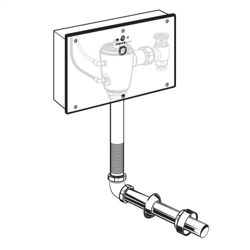 Selectronic Concealed Toilet Flush Valve with Wall Box for Floor-Mount, Back Spud Bowls - No Finish