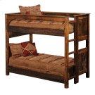 Barnwood Queen/Queen (Ladder Left) Bunk Bed Product Image