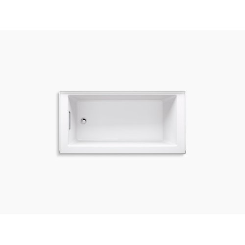 """White 60"""" X 32"""" Alcove Bath With Integral Apron, Integral Flange, and Right-hand Drain"""