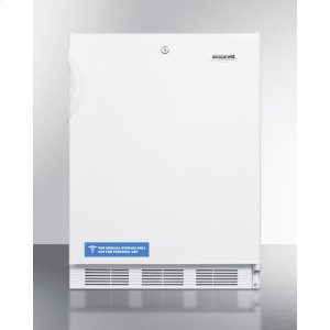 ADA Compliant All-refrigerator for Built-in General Purpose Use, With Lock, Automatic Defrost Operation and White Exterior -