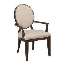 Grantham Hall Uph Arm Chair W/Decorative Back-Kd