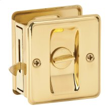 Door Hardware  Pocket Door Lock - Bright Brass