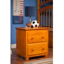 Atlantic 2 Drawer Night Stand in Caramel Latte