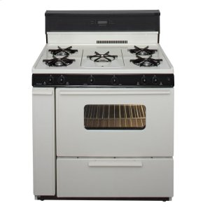 Premier36 in. Freestanding Gas Range with 5th Burner and Griddle Package in Biscuit