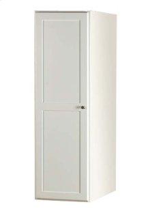 """Shaker 15"""" Linen Cabinet Storage Tower with Wood Door in Dark Cherry"""