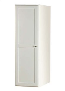 "Shaker 15"" Linen Cabinet Storage Tower with Wood Door in Dark Cherry"