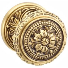 Interior Ornate Knob Latchset in BAS (Siena Brass, Lacquered)
