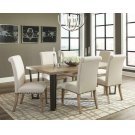 Taylor Rustic Ivory and Oak Seven-piece Dining Set Product Image