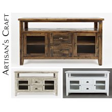Artisan's Craft Storage Console - Weathered White