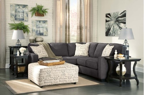 Alenya 3-Piece LAF Loveseat Sectional w/ RAF Sofa (Charcoal)