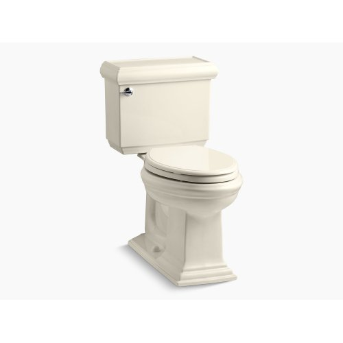 Almond Comfort Height Two-piece Elongated 1.28 Gpf Toilet With Aquapiston Flushing Technology, Left-hand Trip Lever and Insuliner Tank Liner, Seat Not Included