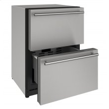 "2000 Series 24"" Solid Refrigerator Drawers With Stainless Solid Finish and Drawers Door Swing (115 Volts / 60 Hz)"