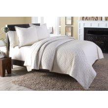 3 pc King Coverlet/Duvet Set Linen