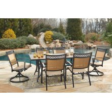 Carmadelia - Tan/Brown 3 Piece Patio Set