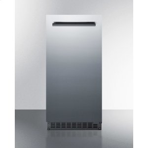 "Summit15"" Wide 62 Lb. Built-in Undercounter Commercially Listed Indoor/outdoor Clear Icemaker With Gravity Drain and Complete Stainless Steel Exterior Finish"