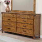 Brenner Rustic Honey Eight-drawer Dresser Product Image