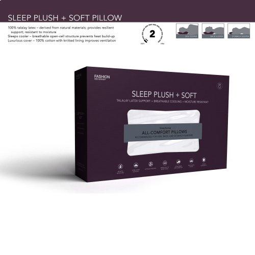 Sleep Plush + Soft Density Latex Foam Pillow, King