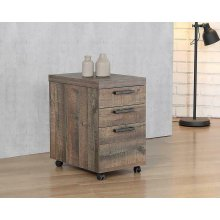 Luke Weathered Oak Mobile File Cabinet