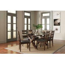 Alston Rustic Knotty Nutmeg Dining Table