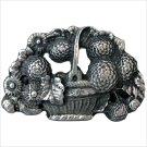 Metal Basket of Flowers Product Image