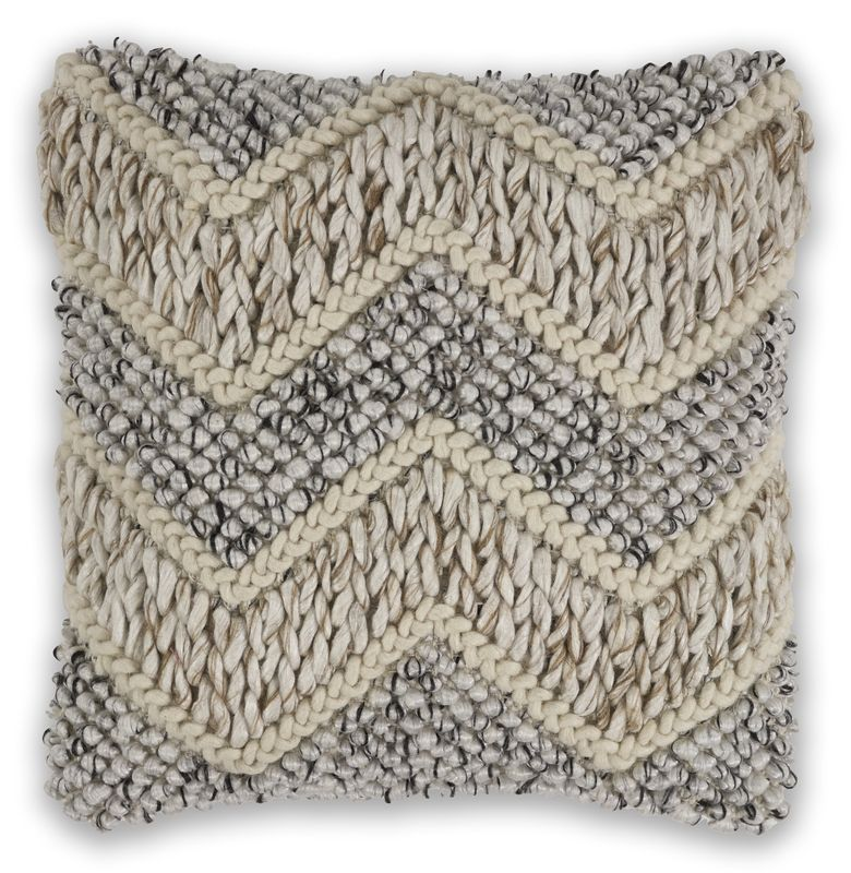 "Pillow L340 Beige/grey Elements 18"" X 18"""