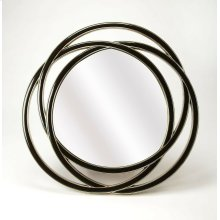 Hanging this mirror in any of your rooms is like making a fashion statement. With it's black finished polyurethane frame giving it a sleek appearance it will be an asset to your home. It has an round shape and is ideal for your foyer , where you can use i