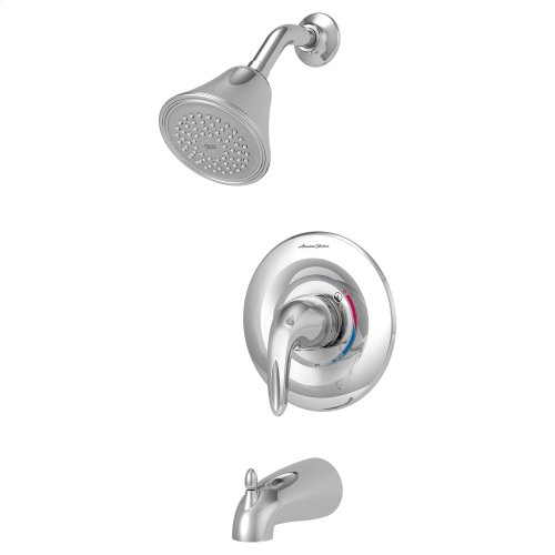 Reliant 3 Bathtub and Shower Trim with Pressure Balance Cartridge with Red/Blue Indicator Ring  American Standard - Polished Chrome