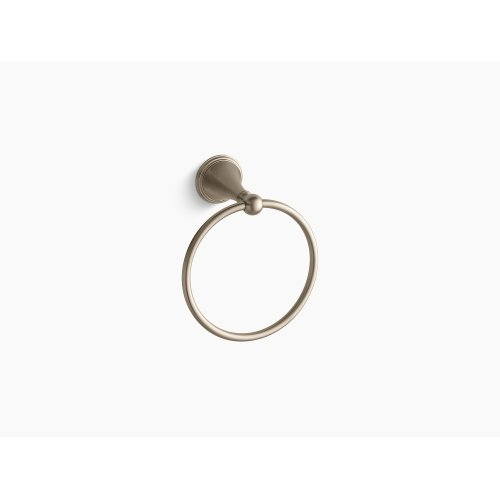 Vibrant Brushed Bronze Towel Ring