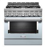 KitchenaidKitchenAid(R) 36'' Smart Commercial-Style Gas Range with 6 Burners Misty Blue