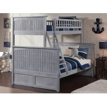 Nantucket Bunk Bed Twin over Full in Driftwood Grey