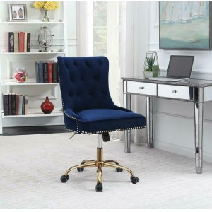 CoasterModern Blue Velvet Office Chair