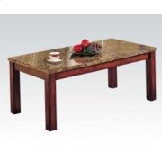 Marble Top Wppd Leg Coffee Tbl Product Image