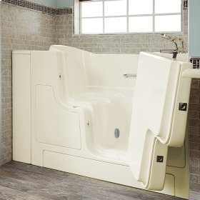 Gelcoat Premium Series 30x52 Walk-in Tub with Outswing Door, Right Drain  American Standard - Linen
